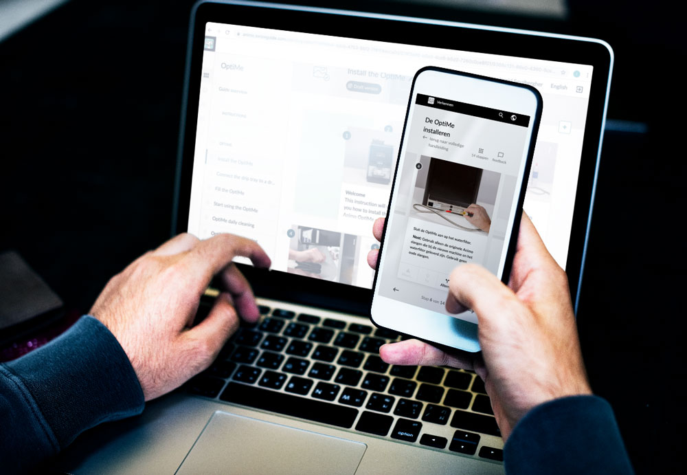 De handleiding uit SwipeGuide is online, op een computer, tablet of mobiele telefoon te gebruiken. Zo is de informatie altijd direct onder handbereik!